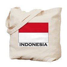 Indonesia Flag Gear Tote Bag