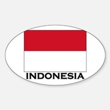 Indonesia Flag Gear Oval Decal