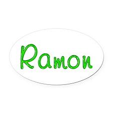 Ramon Glitter Gel Oval Car Magnet