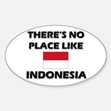 There Is No Place Like Indonesia Oval Decal