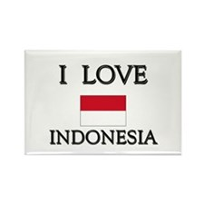 I Love Indonesia Rectangle Magnet
