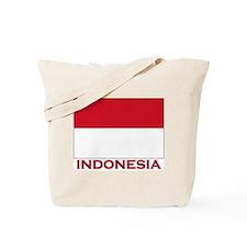 Indonesia Flag Merchandise Tote Bag