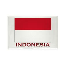 Indonesia Flag Merchandise Rectangle Magnet