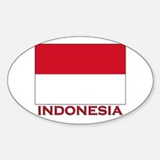 Indonesia Flag Merchandise Oval Decal