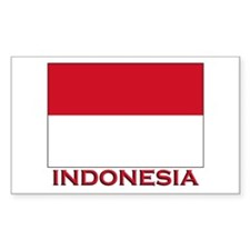 Indonesia Flag Merchandise Rectangle Decal