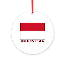 Indonesia Flag Merchandise Ornament (Round)