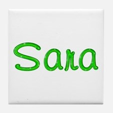 Sara Glitter Gel Tile Coaster
