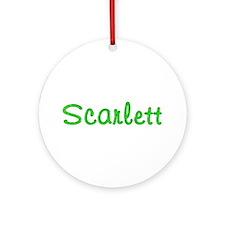 Scarlett Glitter Gel Round Ornament
