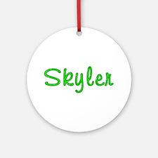 Skyler Glitter Gel Round Ornament