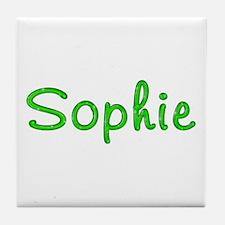 Sophie Glitter Gel Tile Coaster