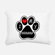 I Love My Chihuahua Rectangular Canvas Pillow