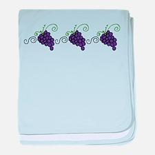 Napa Valley Grapes baby blanket