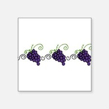 "Napa Valley Grapes Square Sticker 3"" x 3"""