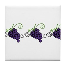 Napa Valley Grapes Tile Coaster