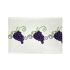 Napa Valley Grapes Rectangle Magnet