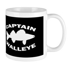 CAPTAIN WALLEYE BLACK HAT Mugs