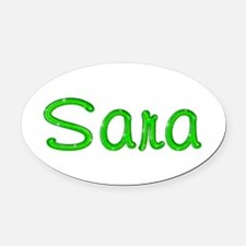 Sara Glitter Gel Oval Car Magnet