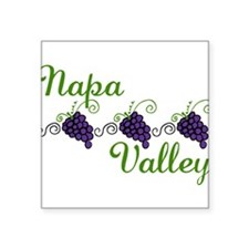 "Napa Valley Square Sticker 3"" x 3"""