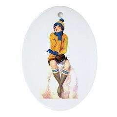Snowman's Land Oval Ornament