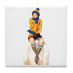 Snowman's Land Tile Coaster