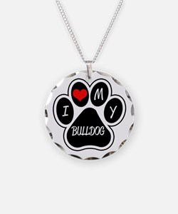 I Love My Bulldog Necklace