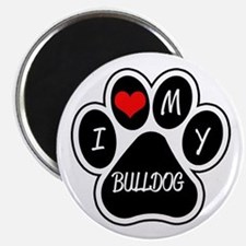 I Love My Bulldog Magnet
