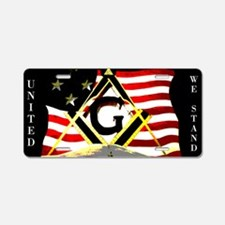 American United Masonic Aluminum License Plate
