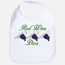 Red Wine Diva Bib
