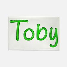 Toby Glitter Gel Rectangle Magnet