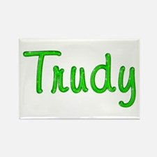 Trudy Glitter Gel Rectangle Magnet