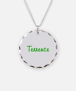 Terrence Glitter Gel Necklace Circle Charm