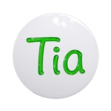 Tia Glitter Gel Round Ornament