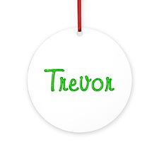 Trevor Glitter Gel Round Ornament