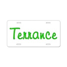 Terrance Glitter Gel Aluminum License Plate