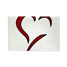 Heart Rectangle Magnet