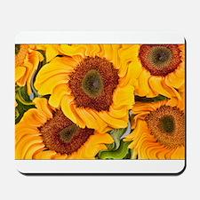 Liquid Sunflowers Mousepad