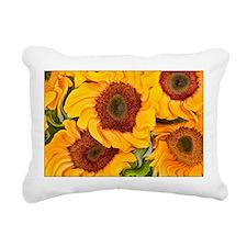 Liquid Sunflowers Rectangular Canvas Pillow