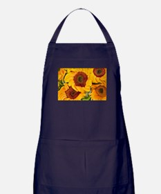 Liquid Sunflowers Apron (dark)