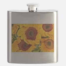 Liquid Sunflowers Flask