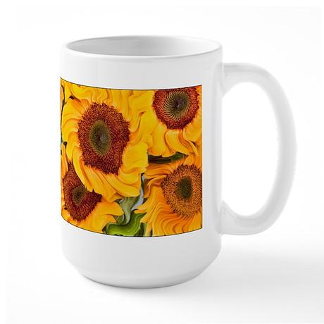 Liquid Sunflowers Large Mug