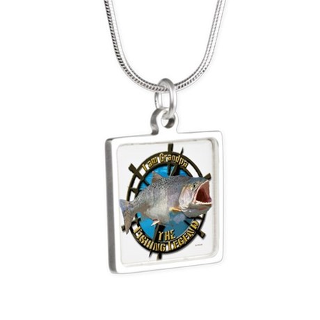 Grandpa legend Silver Square Necklace