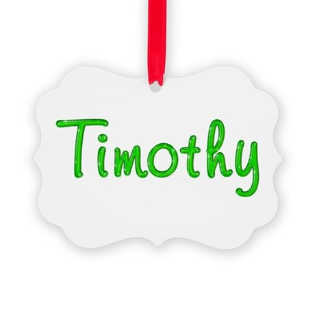 Timothy Glitter Gel Picture Ornament