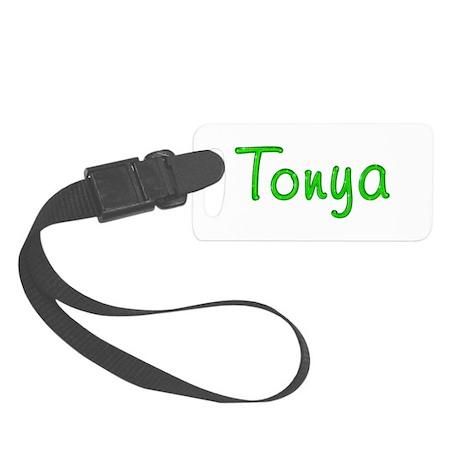 Tonya Glitter Gel Small Luggage Tag