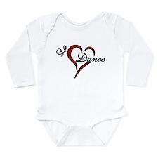 I Love Dance Long Sleeve Infant Bodysuit