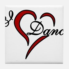 I Love Dance Tile Coaster