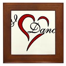 I Love Dance Framed Tile