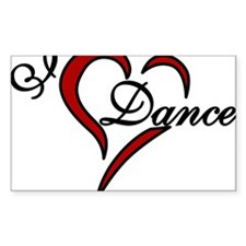 I Love Dance Decal
