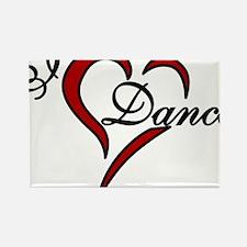 I Love Dance Rectangle Magnet