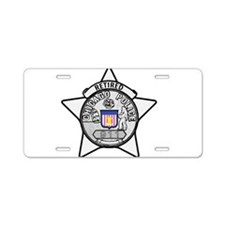 Cute Retired police officer Aluminum License Plate