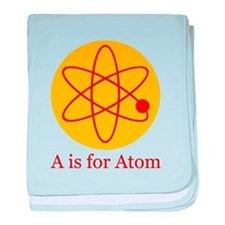 A is for Atom baby blanket